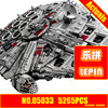 ZXS LEPIN 05033 5265Pcs Star Wars Ultimate Collector S Millennium Falcon Model Building Blocks Compatible 10179