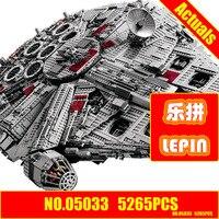 ZXS LEPIN 05033 5265Pcs Star Wars Ultimate Collector S Millennium Falcon Model Building Blocks Compatible 10179