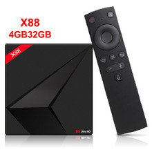 Google Android TV OS Box with Voice Control Rockchip RK3328 4GB 32GB Streaming Box with Google Play Store Netflix Youtube цена и фото
