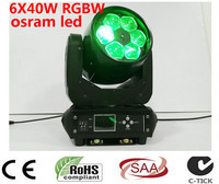LED BEAM ZOOM WASH 6x40W 4in1 RGBW LED ZOOM moving head beam light for Bar effect led stage lighting dmx dj lights