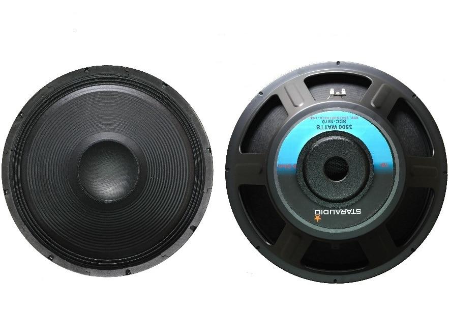 STARAUDIO SDC-1870 3500W 18 Pro Raw PA DJ Speaker Subwoofer 8 Ohm Woofer 70 oz Magnet fox pro raw 02 2016