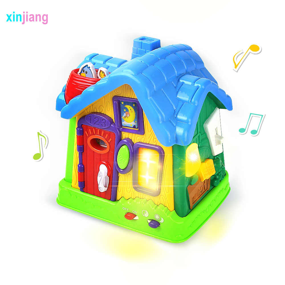Happy House Flashing Musical House Electronic Toys Virtual