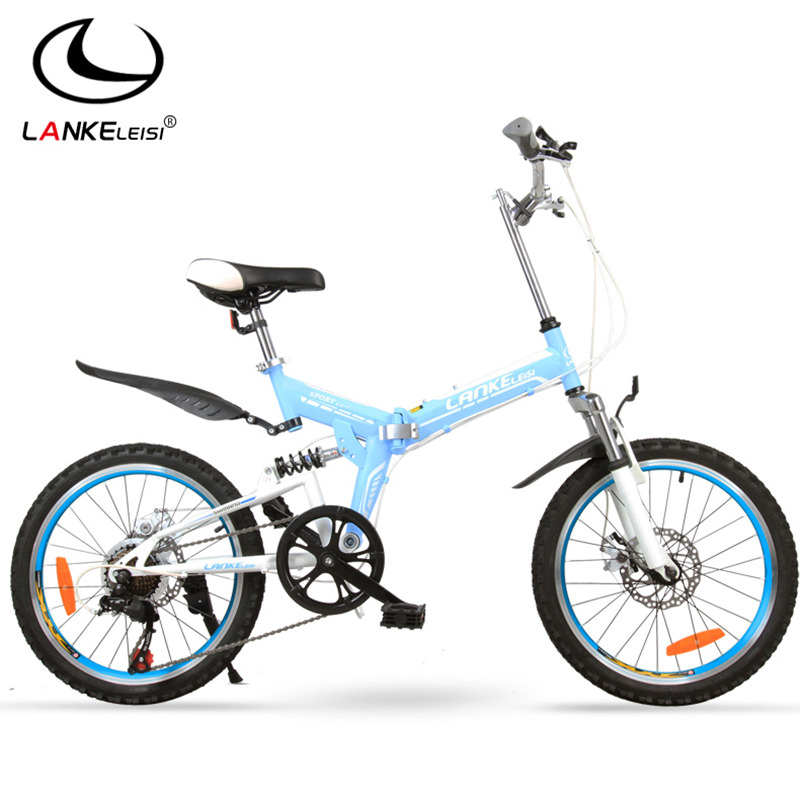 7 Speed, 20 inches, Top Brand Speed Control System, Folding Bike, Mountain Bike, for Students, Double Disc Brake.