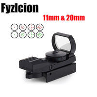 Fyzlcion Hunting Red dot 20mm 11mm Rail Riflescope Optics Scope HolographicMro Sight Reflex 4 Reticle Tactical red dot