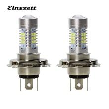 2pcs H4 LED Fog Light High Bright White LED HeadLight Bulb DC12V 21SMD 2835 21W DRL Driving Lights Car Accessories