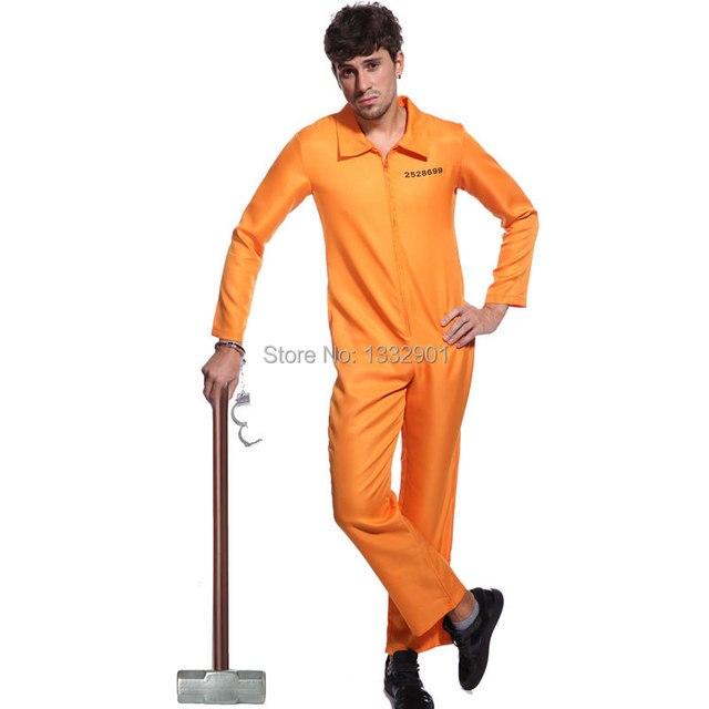 Aliexpress.com : Buy Orange PRISONER JUMPSUIT BOILER SUIT CONVICT ...