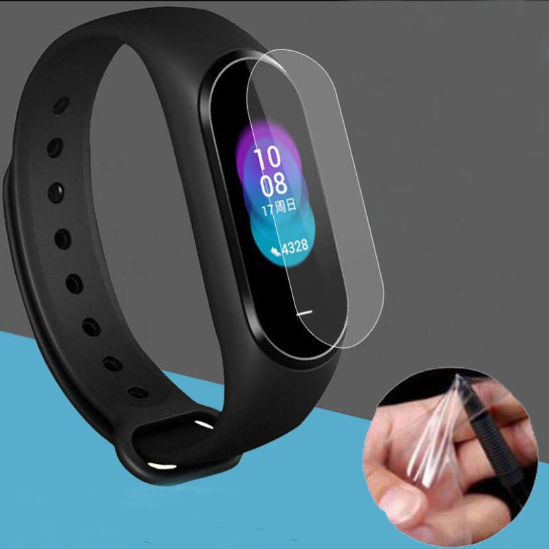 3pcs PET Clear Protective Film Guard For Xiaomi Xiaomi Hey+ NFC Band Hey Plus Smartband Bracelet Display Screen Protector Cover