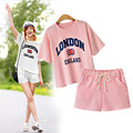 YONO New Fashion Women T Shirt Set Spring Clothes Casual Short Sleeve Letter Print T Shirt+Shorts 2 Pcs Suit Hot Plus Size XL