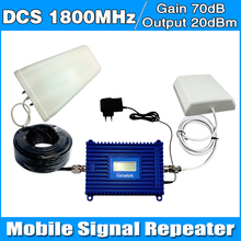 Full Set GSM 1800MHz DCS Repeater 1800 Cell Mobile Phone Signal Booster Amplifier + Outdoor LDPA Antenna+Indoor panel antenna