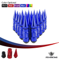 PQY RACING-  20PCS HIGH QUALITY WHEEL NUTS ALUMINUM EXTENDED TUNER WHEEL LUG NUTS WITH SPIKE FOR WHEELS/RIMS M12X1.5 PQY- LV1215