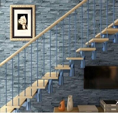 livraison gratuite bleu gris clair brique mur papier peint vinyle relief d coration murs. Black Bedroom Furniture Sets. Home Design Ideas