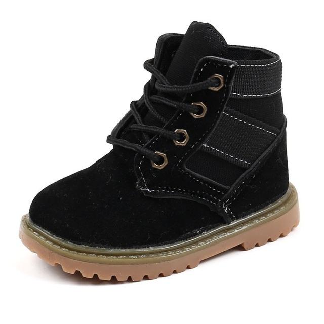 Desert Boots with Fur Girls Martin Boots Plush Winter Autumn Mid-Calf Tactical Boot