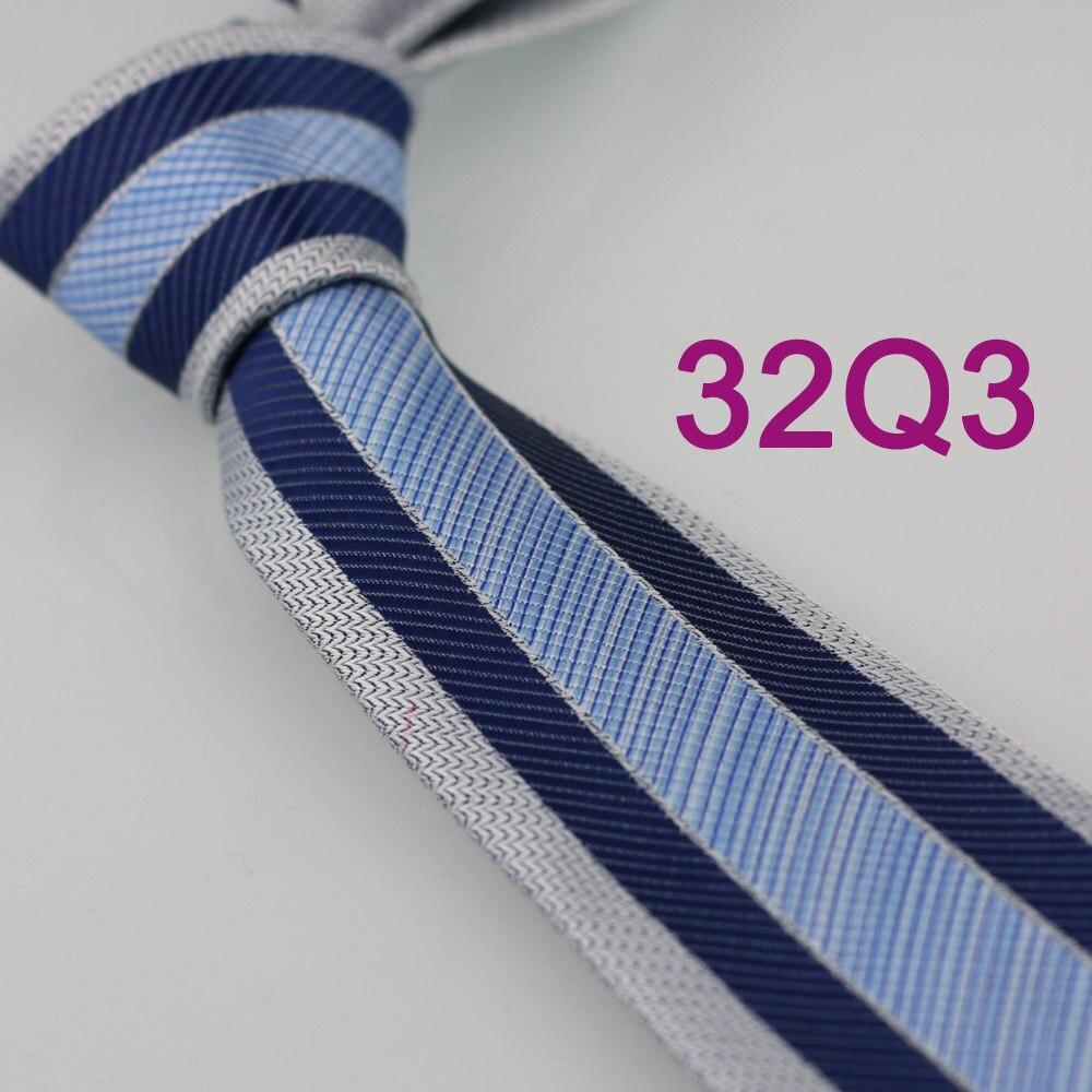 YIBEI Coachella серый облегающий узкий галстук темно-синие диагональные полосы для мужчин микрофибра небесно-голубой галстук в клеточку комплект - Цвет: Sky Blue Ties