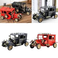 Antique Vintage Car Model Toy Home Room Decoration Ornaments Handcrafted Collections Collectible Vehicle Metal Kids Model Toys