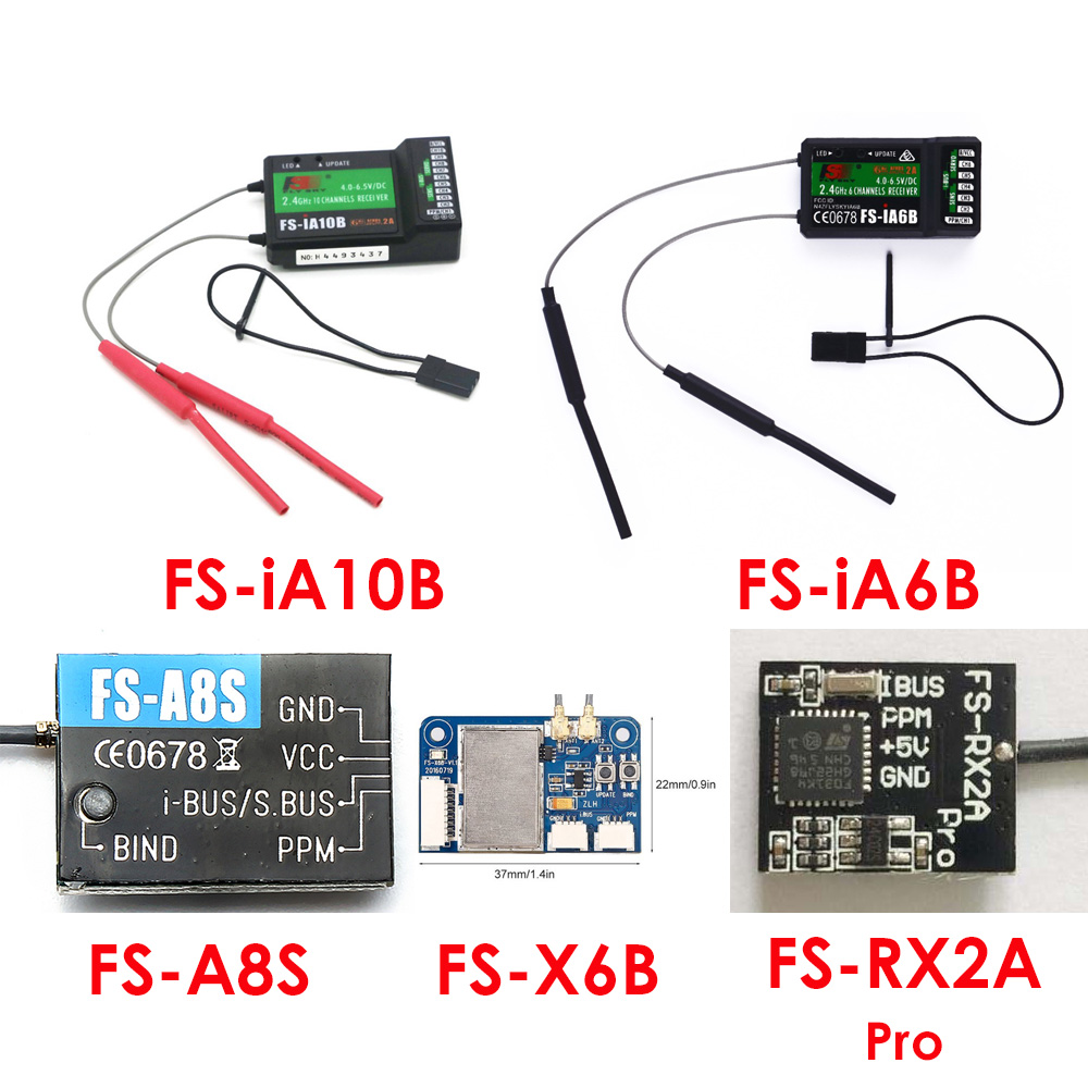 Flysky Fs Ia6b Fs Ia10b Fs X6b Fs A8s Fs Rx2a Pro 2 4g Receiver Compatiable Com Fs I6 I6s I6x I10 Rc Transmissor Peças E Acessórios Aliexpress