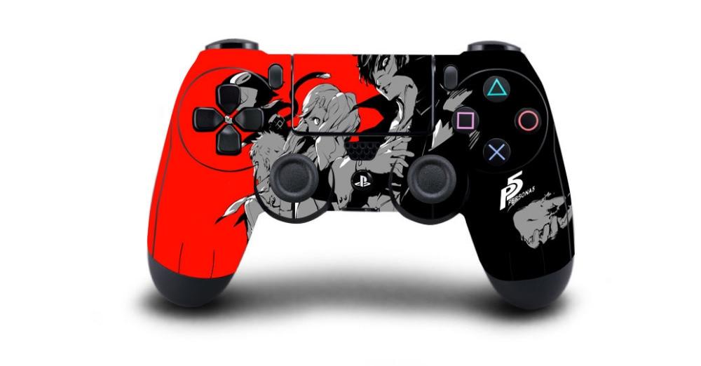 1 Stück Spiel Persona 5 P5 Ps4 Haut Aufkleber Für Sony Ps4 Playstation 4 Dualshouck 4 Spiel Ps4 Wireless Controller Aufkleber