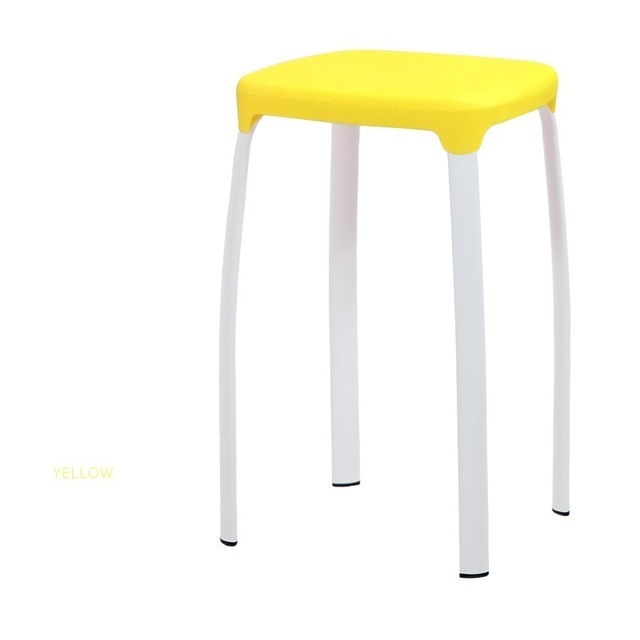 Plastic Footstool steel pipe leg bedroom computer stool white green color retail and wholesale free shipping