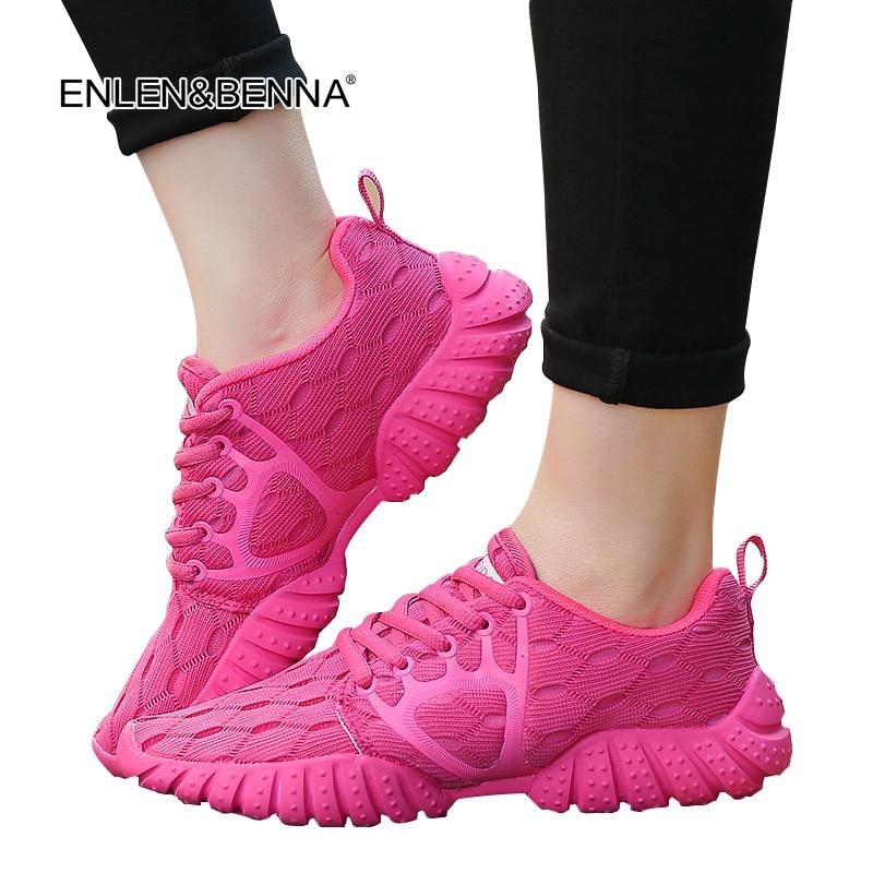 2017 جديد الصيف zapato النساء تنفس شبكة خفيفة zapatillas أحذية للنساء شبكة لينة عارضة الأحذية البرية الشقق عارضة