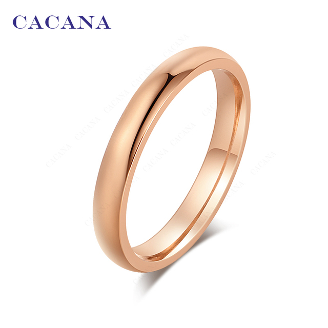 CACANA Titanium Stainless Steel Rings For Women Really Lovely Fashion Jewelry Wh