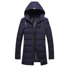 2017 Brand Winter Parkas Men Thick Jackets Hood Coat Long Parka Warm Zipper Outerwear New Jacket Cotton Casual Black