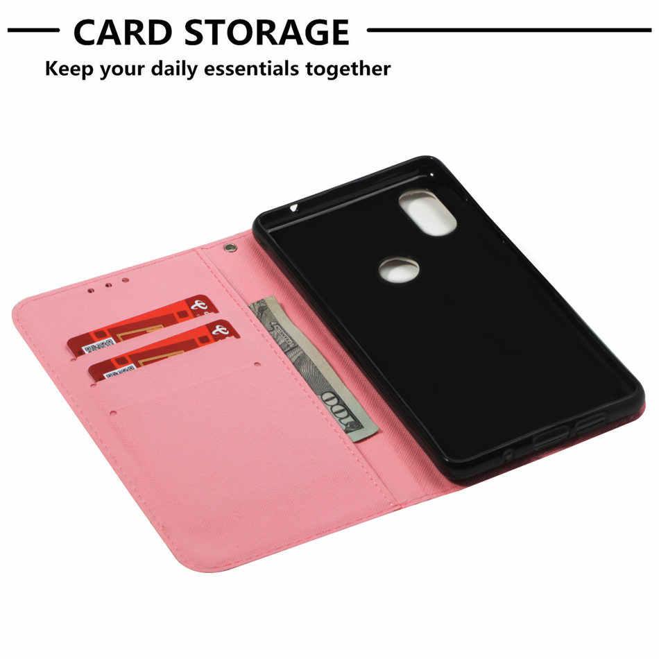 Кожаный чехол с откидной крышкой для Xiaomi 8 A2 5X A1 6X Mix2s Redmi Note 5 Pro 4A 4X 5A 5X Y1 Бабочка череп Ловец снов пони чехол сумка P03Z