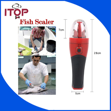 ITOP Electric Rechargeable Handheld Fish Scaler Kitchen Scale Fish Tool 220V/110V Euro plug & UL plug