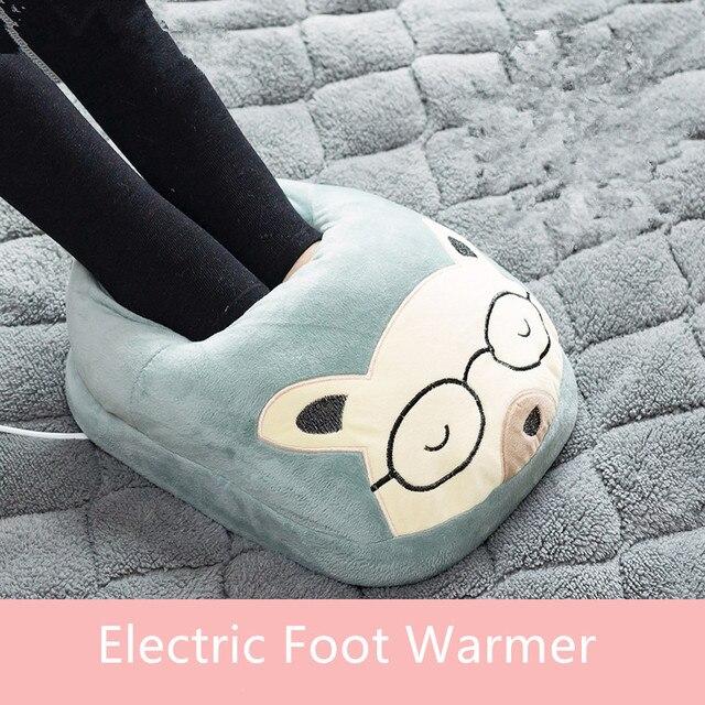 Рождественские подарки Электрический обогревающий мат грелки для ног нагревательные электрические ноги грелка для обуви коврик сокровище Тепловая пластина коврик с подогревом тапочки