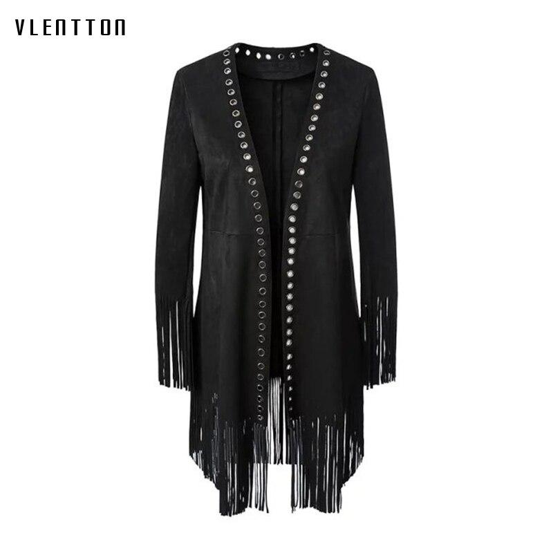 2019 New vintage Long Women 39 s Windbreaker Tassel Eyelet Slim Coat Female Spring autumn Elegant Thick Women 39 s Jacket Overcoat in Jackets from Women 39 s Clothing