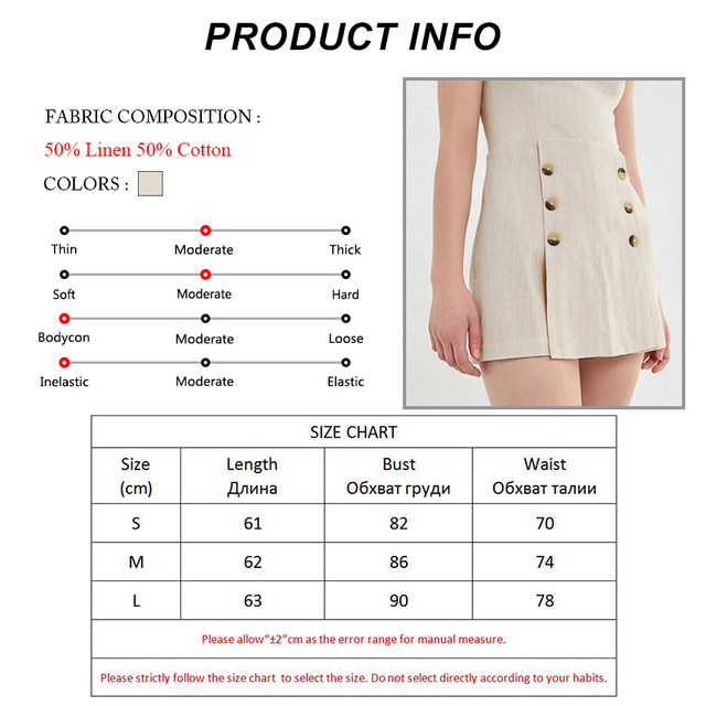 Cotton Linen Playsuits | Free Shipping | Online Brands