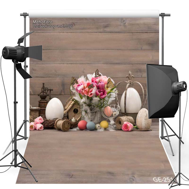 Happy Easter Vinyl Photography Background Floor Colorful Egg New Fabric Flannel Backdrop For Children photo studio Props 251
