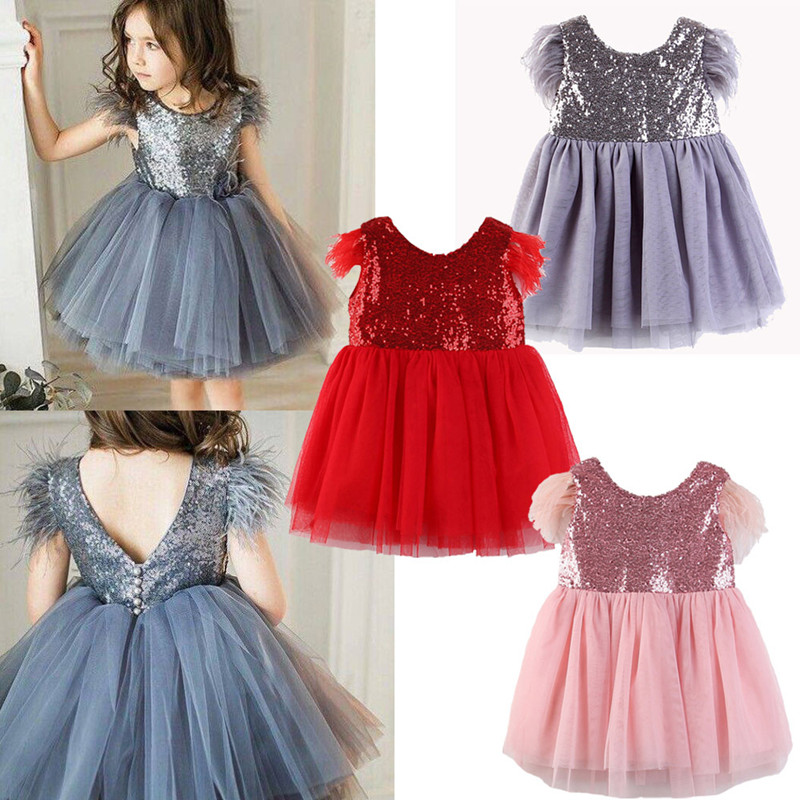 Baby Girls Clothes Kids Toddlers Girls Princess Dress Children Clothing Baby Dress 5sets lot