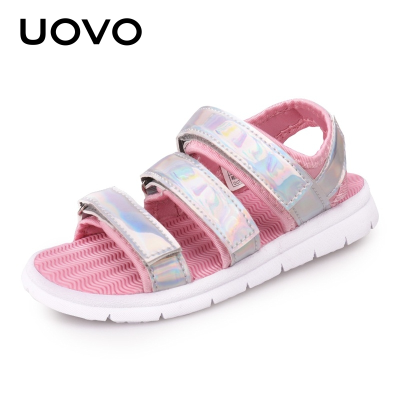 Image 4 - UOVO 2020 Summer Kids Sandals Boys And Girls Slides Children Summer Beach Sandals New Arrive Little Kids Shoes Eur Size #25 37Sandals   -