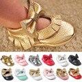 Новый Кисточкой Бантом Детская Обувь Ручной Работы Новорожденных Девочек Первые Ходоки Ботинки младенца мокасины