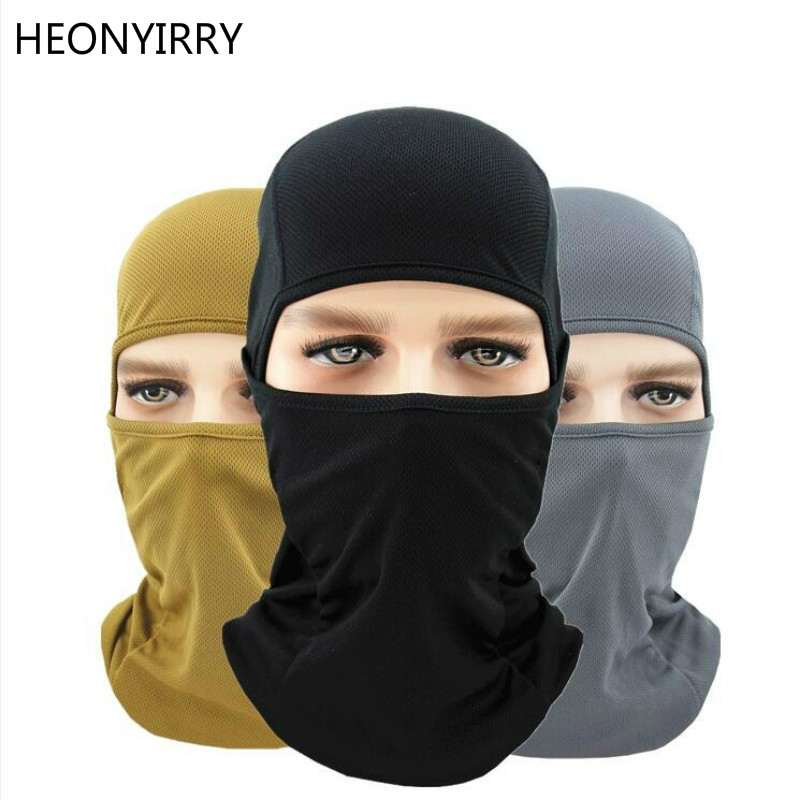 Motorcycle Full Face Mask Warmer Windproof Breathable Balaclava Airsoft Paintball Cycling Ski Shield Anti-UV Men Sun Hats Helmet