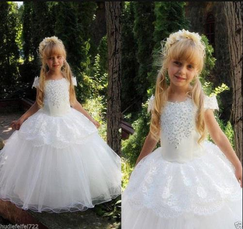 2017 best sell  sleeveless ball gown Flower Girl Princess Dress Kid Party Pageant Wedding Bridesmaid Tutu Dresses 2017 new flower embroidery girl dresses pageant party wedding bridesmaid ball gown prom princess long dress girl clothes