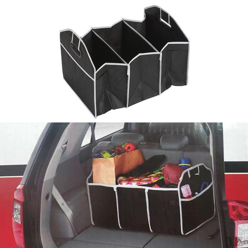 1x Car <font><b>Accessories</b></font> Folding Multi-Pocket Organizer For <font><b>Ford</b></font> Focus 2 1 <font><b>Fiesta</b></font> Mondeo 4 3 Transit Fusion Kuga Ranger Mustang KA image