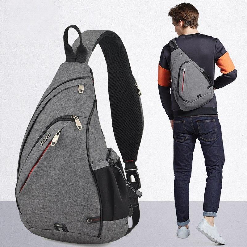 Image 2 - Mixi Men Sling Backpack One Shoulder Bag Boys Student School Bag University Work Travel Versatile 2019 Fashion New Design M5225Backpacks   -