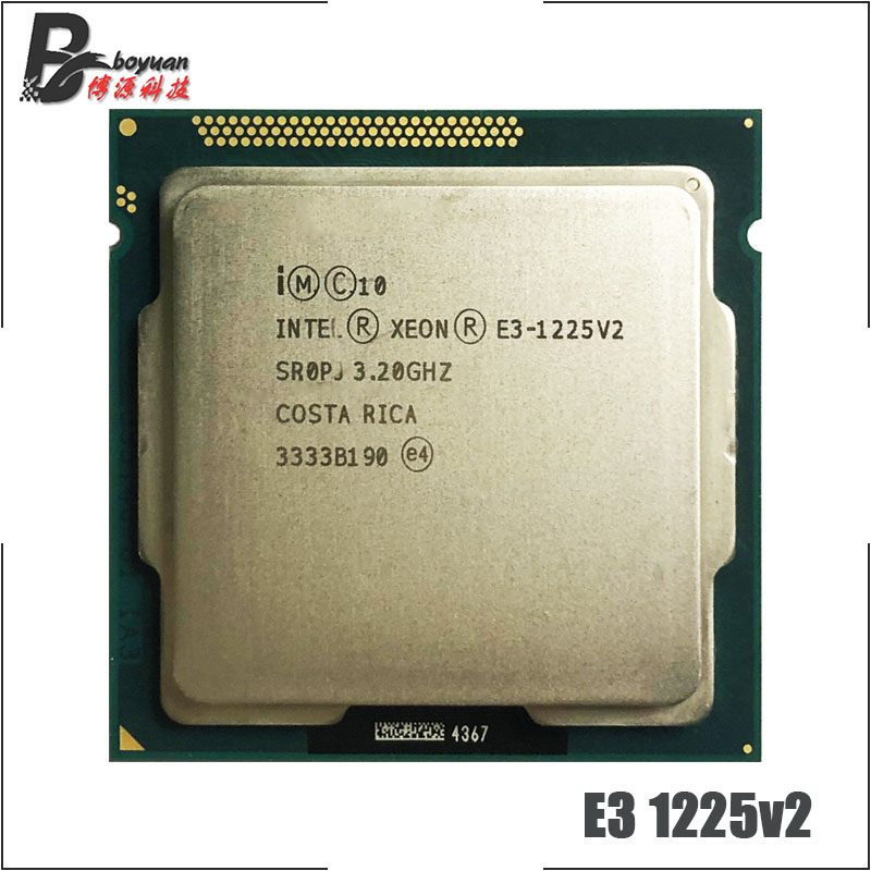 Intel Xeon E3-1225 V2 E3 1225v2 E3 1225 V2 3.2 GHz Quad-Core Quad-Thread CPU Processor 8M 77W LGA 1155