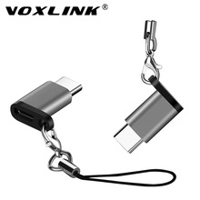 VOXLINK Adapter Micro USB To TypeC  Alloy Case Android Connector For Huawei Xiaomi With Keychain Adaptors
