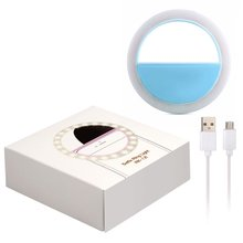 USB charge LED Camera Selfie Ring Licht met Usb Kabel Duisternis Selfie Enhancing voor iPhone voor Andriod Telefoon Vulling Licht(China)