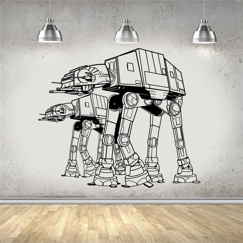 Star Wars Wall Art Sticker Decal Art Decor Home Decor Removable Dinding Decals Wall Decor Vinyl Dinding Ruang Tamu Sticker D472 Wall Stickers Aliexpress