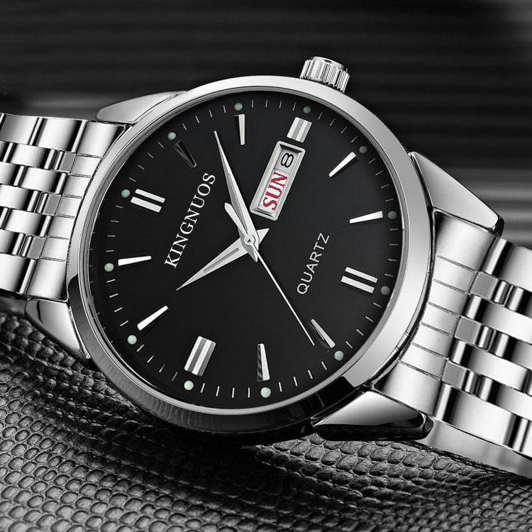 2017 Fashion Quartz Watch Men Top Brand Luxury Famous Stainless Steel Wrist Watch Male Clock for