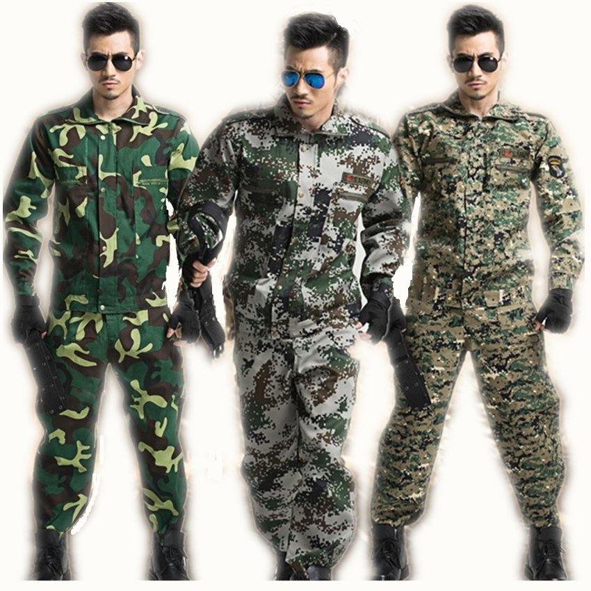 Tactical Military Uniform Long Sleeve Camouflage Suit Military Combat-Proven Battle Jacket+pant Costumes Men's Clothing Sets