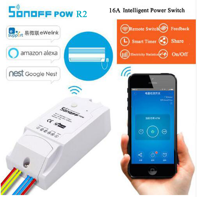 Smart Electronics Knowledgeable Sonoff Pow R2 Smart Home Itead Wireless Wifi Switch On/off 16a With Real Time Power Consumption Measurement Watt Meter Smart Home Module Available In Various Designs And Specifications For Your Selection
