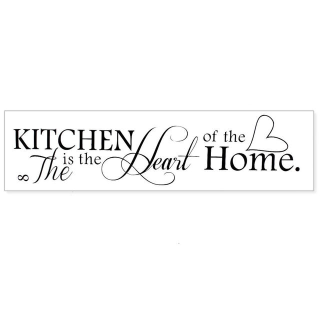 Stylish Removable Black Quote Kitchen is Heart of Home Sayings Design Windows Door Glass Wall Sticker  sc 1 st  AliExpress.com & Stylish Removable Black Quote Kitchen is Heart of Home Sayings ...