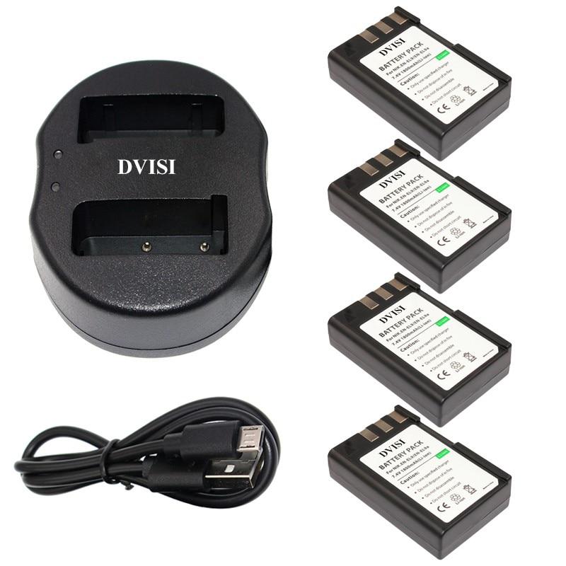 Jhtc Batterie En El9 Für Nikon En-el9a D40 D60 D40x D5000 D30 Batterie 1300 Mah En-el9 Akkus En-el9a Digital Batterien