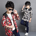 4 6 8 10 12 14 Years Spring Boys fashion hooded camouflage jacket for children red green gray cotton kids Outdoor sport coat