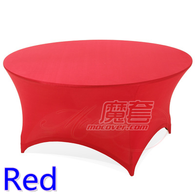 Aliexpress Com Buy Spandex Table Cover Red Colour Round Lycra