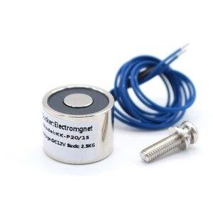 20/15 mm Suction 2.5KG 25N DC 5V/12V/24V Mini solenoid electromagnet electric Lifting electro magnet strong holder cup DIY 12 v(China)