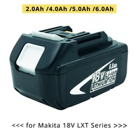 Replacement for Makita 18v Rechargeable Lithium ion Battery BL1850 BL1830 BL1860 LXT400 Power Tools